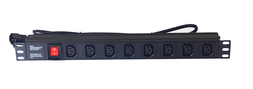 8 way IEC type PDU with switch
