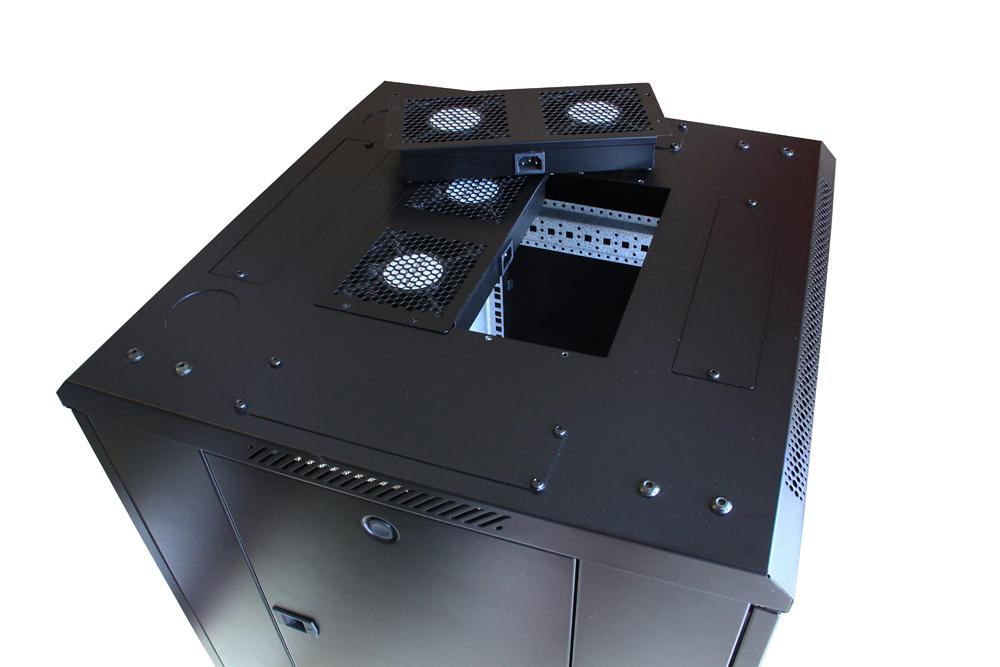 Module roof mount fan unit installing