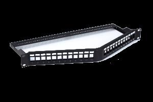 UTP Blank Patch Panel,Angle Shape,24 Ports,with back bar